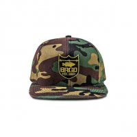 Shield Logo Snapback Hat Woodland Camo