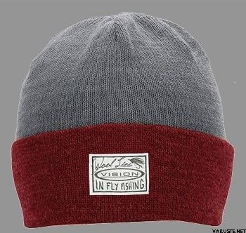 Vision,LT,Willa,Beanie,Red/Grey,meriinoull